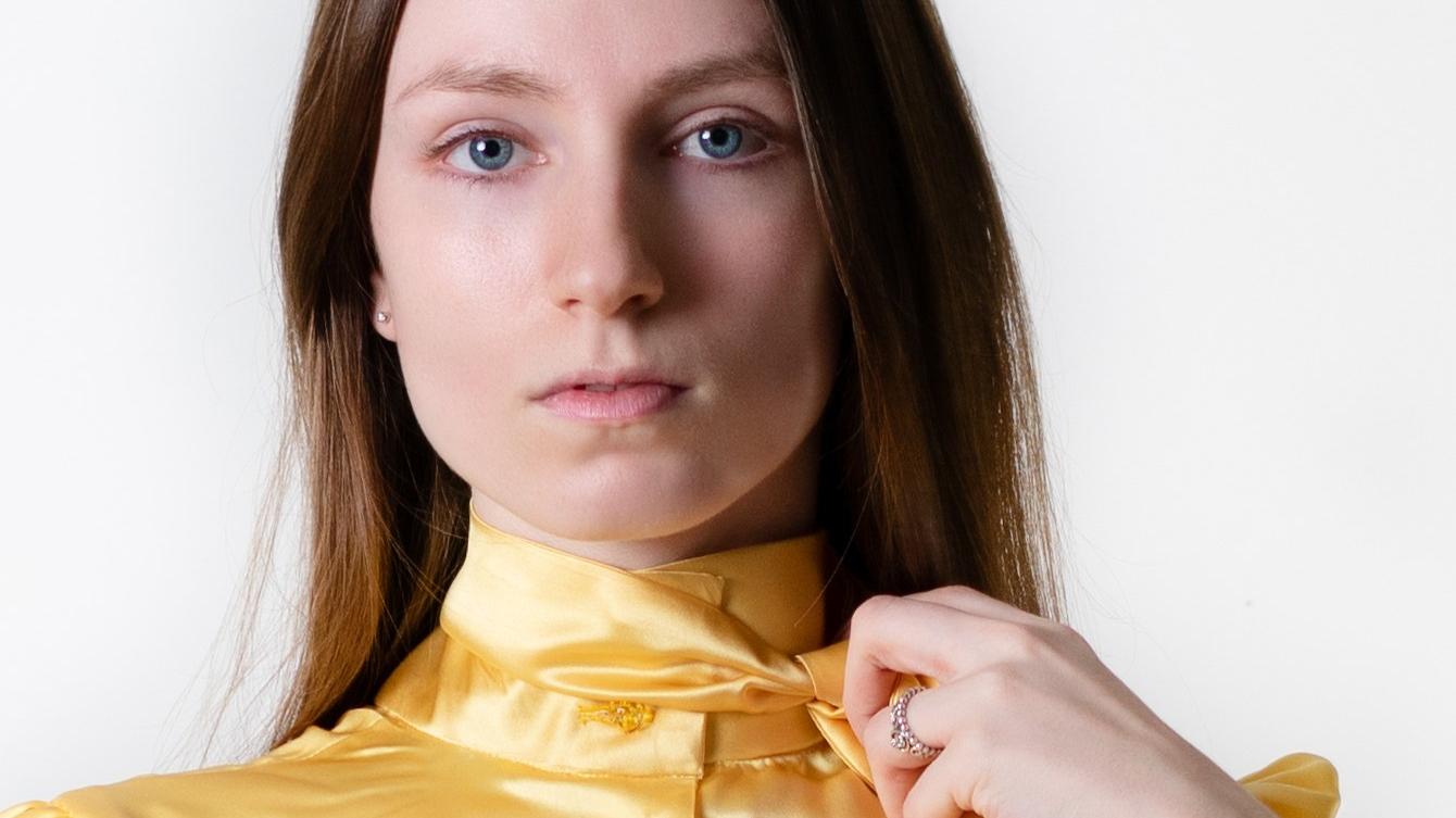 model portrait yellow photography