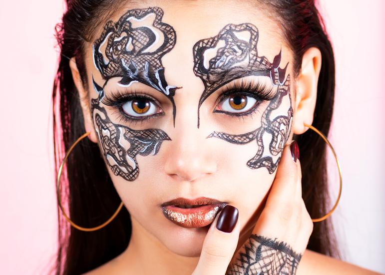 party animal carnival makeup aleksandra rowicka